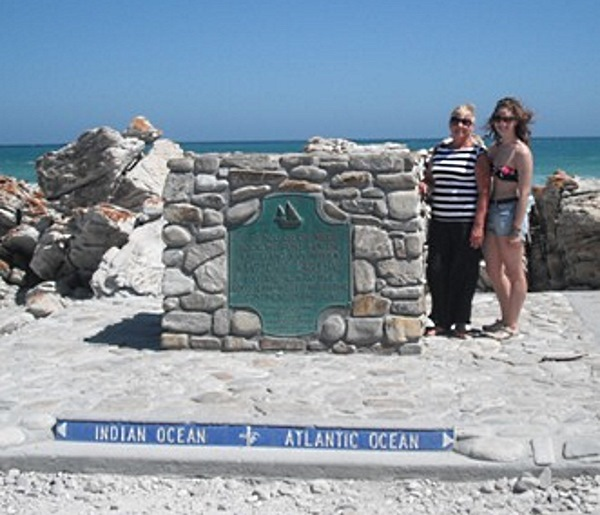 Southernmost point of Africa at L'Agulhas
